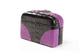 Purple And Black Purse
